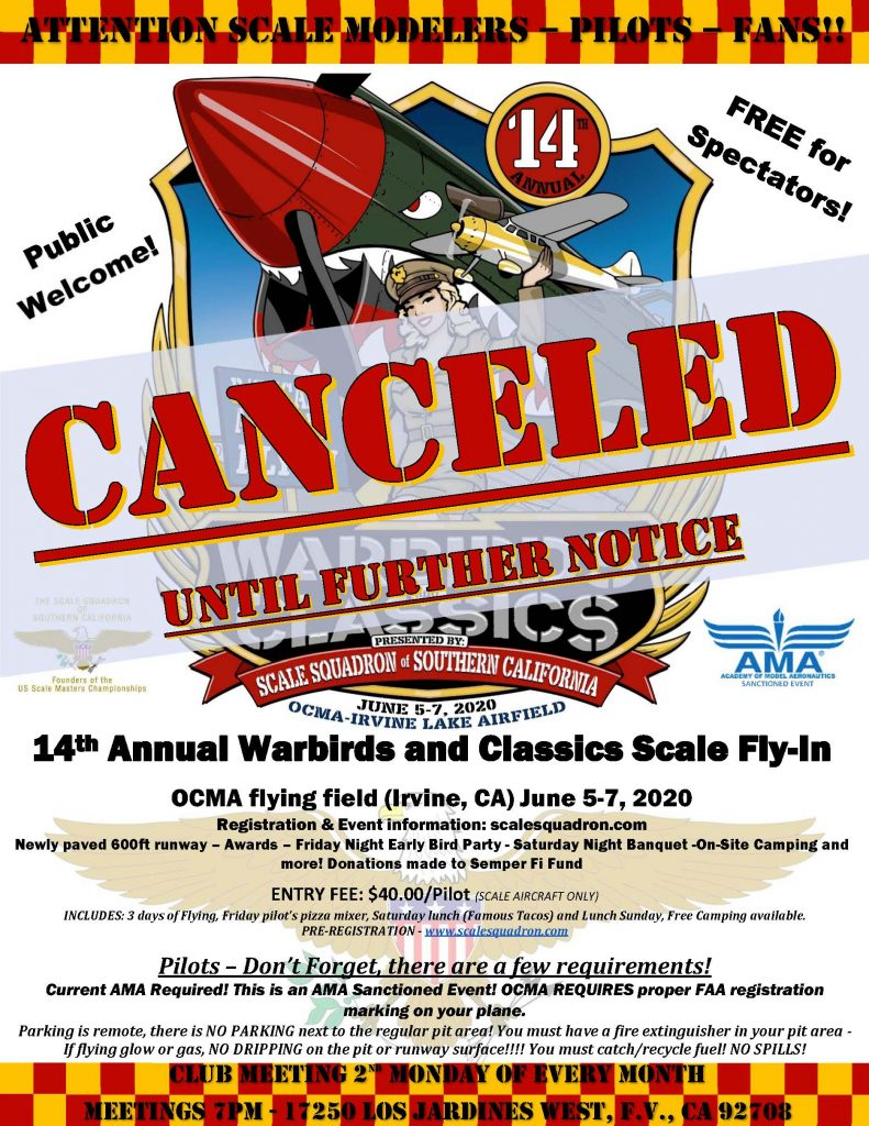 Warbirds and Classics 2020 Canceled until further notice